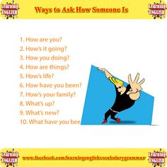 10 ways to ask how someone is