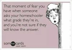 When People Ask Your Homeschool Child's Grade, ha -- not really fear -- I think it's funny mostly -- but it can be awkward, so I try to make sure they have an answer to give. School Humor, Mom Humor, Hate School, Always Learning, Home Schooling, Up Girl, In This World, Credit Cards, Funny Quotes