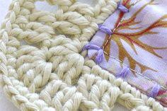 Crocheted charm blanket