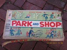 Vintage+Board+Games | Vintage Park and Shop Board Game Milton Bradley by WestofChelsea