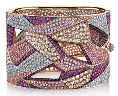 Diamond Bracelets, Cuffs & Bangles : Image Description The One-Shoulder Fashion Trend Means You Need More Bracelets Rose Gold Jewelry, High Jewelry, Luxury Jewelry, Modern Jewelry, Jewellery, Trendy Jewelry, Gemstone Jewelry, Diamond Bracelets, Bangles