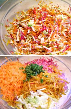Raw Beet, Carrot and Cabbage Coleslaw with Red Onions