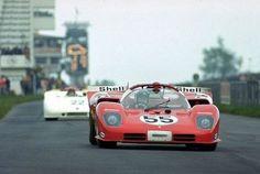 John Surtees - Ferrari 512 S being chased by a Porsche 908/3