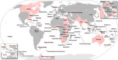 The territories that were at one time or another part of the British Empire.