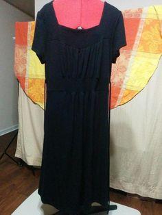 20% OFF! BUY IT NOW! Little Black Sweater Dress Candy Rain Plus Size 2X Square Neck Empire Waist  | eBay