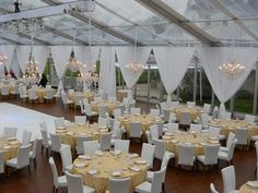 Wedding tent, table, chairs and linen rentals