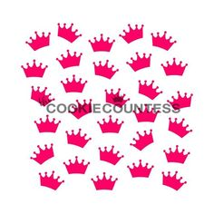 Crowns Stencil by The Cookie Countess