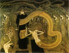 Fatality, Pencil by Jean Theodoor Toorop (1858-1928, Indonesia)