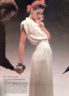 Paris/Rome: The Lively Art of Couture - Vogue US (1986) Christy Turlington by Dominique Issermann