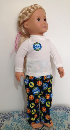 Pyjamas for 18in American Boy or Our Generation dolls
