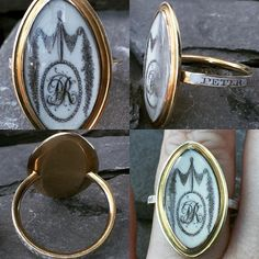 Georgian 15ct gold ivory and enamel mourning ring with a sepia monogram PR. A beautiful mourning ring with a white enamel band inscribed 'Peter Ramsey Ob: 27th Oct 1781 Ae 48'. Although most mourning rings have black enamel white was used to signify a child or unmarried person.