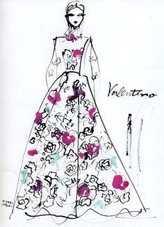fashion illustration by Miyuki Ohashi: Valentino, Resort 2013