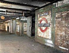 Abandoned Tube Station-Wood Lane near Shepherds Bush, West London. Derelict Places, Derelict Buildings, Abandoned Houses, Abandoned Castles, Abandoned Mansions, Abandoned Places In The Uk, Abandoned Train, London Underground Stations, Underground Tube