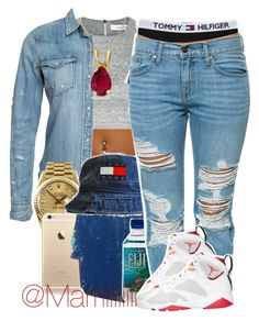 """Wet dreams"" by trill-forlife ❤ liked on Polyvore featuring Elizabeth and James, Denim & Supply by Ralph Lauren, Rolex, Tommy Hilfiger, Pistola and Allurez"