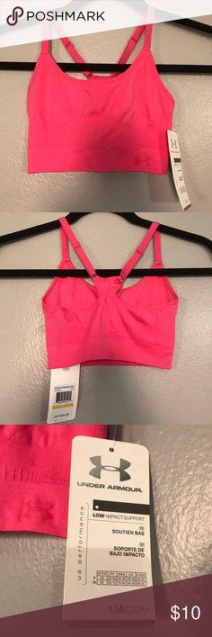 Under Armour Sports Bra - Size Small Under Armour Pink Sports Bra - Size SM/P. Adjustable racer back Under Armour Intimates & Sleepwear Bras