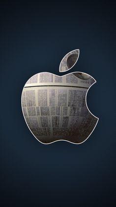 750x1334 Wallpaper apple, mac, logo, metal, hi-tech