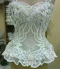 Snow queen corset.