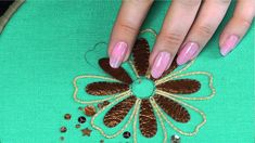 1 - Applying leather to hand embroidery. - YouTube