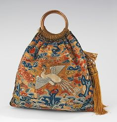 Evening bag, silk & metal thread. 1920s. The Metropolitan Museum of Art