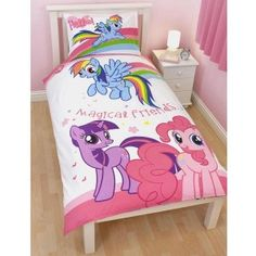 Kids Girls Hasbro My Little Pony Bedding Bed In A Bag / Comforter Set   3  Prints | My Little Pony Comforter Set | Pinterest | Comforter, Kids Girls  And Pony