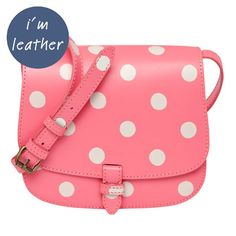 Button Spot Small Leather Cross Body Bag