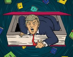 """Check out new work on my @Behance portfolio: """"The Literature of Donald Trump - New Statesman"""" http://be.net/gallery/50019709/The-Literature-of-Donald-Trump-New-Statesman"""