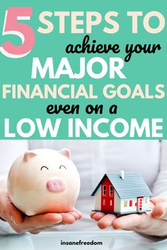 Do you mistakenly believe that achieving financial independence is not possible with your low income? Read this post to get started on these 5 steps towards achieving your major financial goals starting today! Travel Tips Travel Hacks packing tour Financial Goals, Financial Planning, Financial Organization, Money Saving Tips, Money Tips, Managing Your Money, All Family, Budgeting Tips, How To Get Money