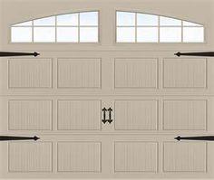 Faux carriage door for garage
