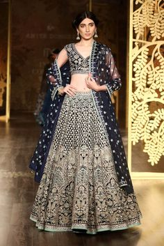 Indian Designer Lehenga Choli Wedding Carbon Blue Color and Designer Bridal Lehenga, Lehenga Choli Wedding, Lehenga Choli Designs, Pakistani Bridal, Pakistani Dresses, Indian Dresses, Pakistani Suits, Punjabi Suits, Indian Lehenga