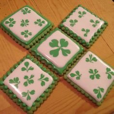 St. Patrick's Day cookies by moi! :)