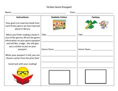 Fiction Genre Reading Program | Mrs Lodge's Library
