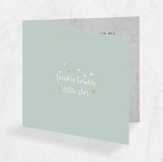 lovz.nl | geboortekaartje vierkant 'twinkle twinkle little star'. Voor een jongen met mint groen en marmer design.