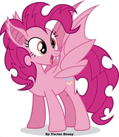 Pinkiebat by Vector-Brony on deviantART Why dose flutter shy get to have all the bat fun?