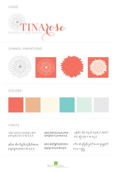 TinaRose Weddings and Events Branding