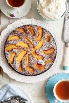 Gluten Free Grain Free Peach Tart Recipe. ☀CQ #glutenfree #sweets #treats