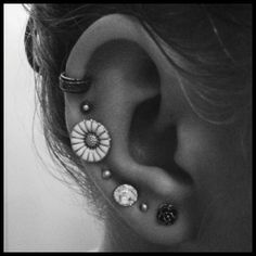 Different Ear Piercings | 40 Crazy and Cute Pictures of Ear Piercings - ekstrax
