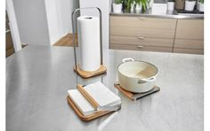 It's all about the subtle details that bring modern design to your kitchen countertop. PILA COLLECTION - Design by Eugenie de Loynes Kitchen Countertops, Kitchen Appliances, Kitchen Roll Holder, Paper Towel Holder, Toilet Paper, Home Kitchens, Kitchen Design, Modern Design, Napkins