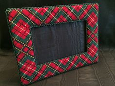 Plaid Needlepoint Frame ~ Canvas by Associated Talents. One of my hobbies. LOVE NEEDLEPOINT!  ♡
