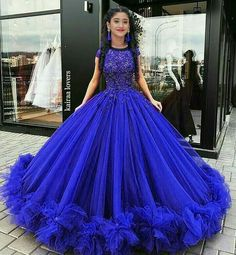 37 Glamorous Ball Gown Wedding Party To Beautify Your Style is part of Dresses - There are lots of options with beaded bridal glamorous ball gowns and the way they're designed The slimfitting form and […] Poofy Prom Dresses, Pretty Quinceanera Dresses, Ball Gown Dresses, 15 Dresses, Elegant Dresses, Homecoming Dresses, Cute Dresses, Beautiful Dresses, Evening Dresses