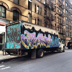 Camion streetart a #Manhattan