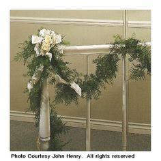 1000 images about decorated stairways on pinterest for Hanging garland on staircase