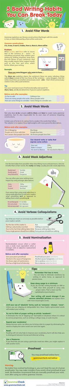 5 terrible writing habits to avoid:5 terrible writing habits to avoid