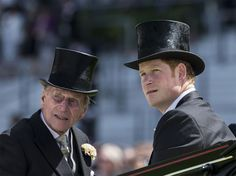 Prince Harry and Prince Philip arrive at Ascot