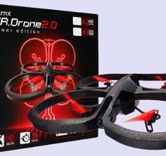 PARROT AR DRONE POWER EDITION (PARROT Consumer; BLACK VERSION WITH 2 X HIGH POWER LITHIUM BATTERIES AND 4 X SETS OF PROPELLERS (INCLUDED REMOVAL TOOL) )
