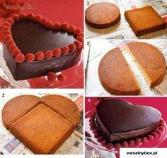 Jak w banalnie prosty sposób, stworzyć SERCE z ciasta dla ukochanej...