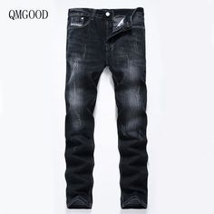 >> Click to Buy << QMGOOD New Men Casual Black Large Size Straight Jeans Size 28-40 High Quality Fashion Men's Brand Pants Cotton Cowboy Trousers #Affiliate