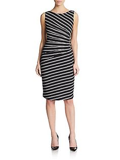 Ruched Stripe Dress