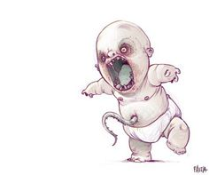 """inquire within: this sketch is called """"baby that you don't want to learn to walk."""""""
