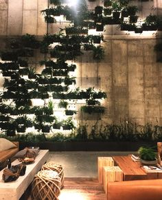 Greenery at 1 Hotel & a Brooklyn Weekend 1 Hotel Brooklyn Bridge W Hotel, Coffee Shop Design, Cafe Design, Design Design, House Design, Cafe Interior, Interior And Exterior, Modern Interior, Brooklyn Bridge