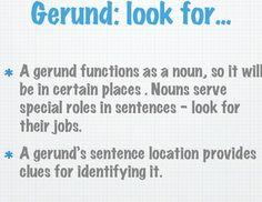 Gerunds vs. Participles power point. For High School English Teacher Friends